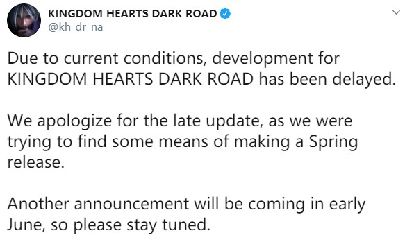 《王国之心:黑暗之路》确认延期 6月将有新公告